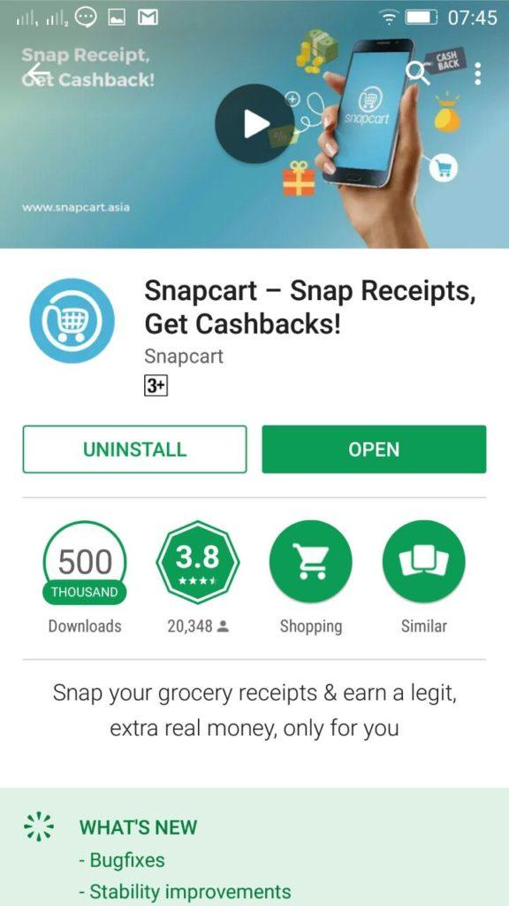aplikasi snapcart