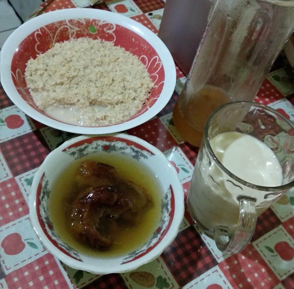 menu sahur oat shake