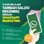 Belajar Tambah Saldo Rekening Dengan Whatsapp Marketing